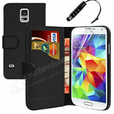 SAMSUNG GALAXY S4 MINI -GENUINE PU Leather Wallet Case Cover