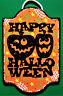 HAPPY HALLOWEEN SIGN Wall Art Door PLAQUE Pumpkins Jack-O-Lanterns Fall Decor