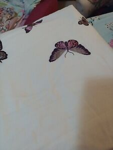 Cream king size duvet cover with Butterflies