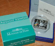 France 2009 Auguste RENOIR 5 euros Silver Proof - Francia 5€ plata silber
