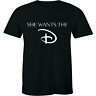 She Wants the D Funny Naughty Humorous Fun Mens Tee Crew Neck T-Shirt