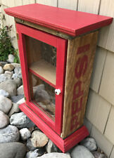 """Vintage Upcycled Pepsi Crate Wall Hanging Cabinet 19 5/8"""" x 14"""" x 6 1/8""""d"""