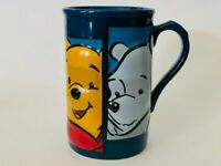 Large Disney Winnie the Pooh Blue Coffee Mug Tea Cup 3D Embossed