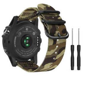 22mm 26mm Woven Nylon Sport Band Watch Straps for Garmin Fenix 5X/Fenix 3/Fenix