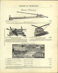 1905 PAPER AD Culver Power Drag Saw Belle City Eureka Horse Power