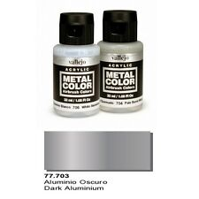 Vallejo Paints And Accessories  Metal Color VLJ-77703 Dark Aluminum Metal Color