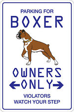"Metal Sign Parking For Boxer 8"" x 12"" Aluminum NS 107"