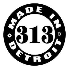 MADE IN DETROIT 313 AREA CODE PRIDE I PAD VINYL CAR TRUCK WINDOW DECAL STICKER