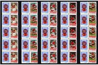 SYDNEY SWANS SET OF 5 150th FOOTBALL STRIPS OF 10 MINT VIGNETTE STAMPS