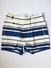 DOLCE GABBANA Blue/White Linen Cotton Short Pants 48