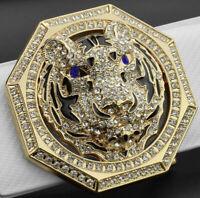 UK MENS DESIGNER PIN BUCKLES FOR 38MM BELTS MEN H BELT BUCKLES TIGER HEX DIAMOND