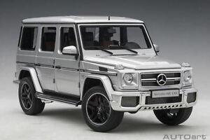 1:18 2017 Mercedes-AMG G63 -- Silver -- AUTOart 76323