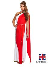 ADULT ROMAN RED LADY Fancy Dress Costume Hen Party Ladies Outfit Halloween UK