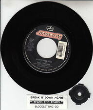 "TEARS FOR FEARS  Break It Down Again 7"" 45 record + juke box title strip RARE!"