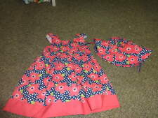 GYMBOREE 18-24 FLORAL DRESS HAT SET 12-24 BLOOMING NAUTICAL