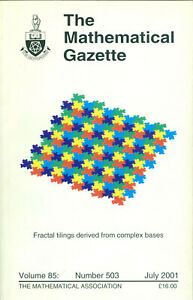 """The Mathematical Gazette"" - Volume 86, Number 503, July 2001,  