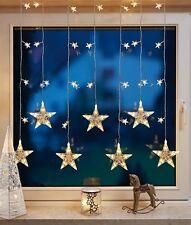 LED Cortina de Estrellas 39 Focos Blanco Cálido Hellum 576351