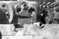 damaged tiger tank turret armor War Photo WW2  4x6 inch J