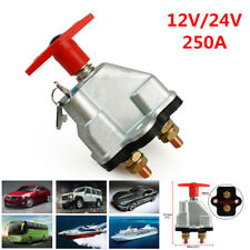 250A Disconnect Battery Isolator Cut On/Off Kill Switch +Key For Car Marine Boat