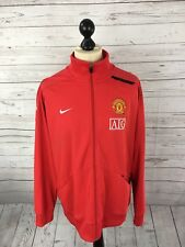 NIKE MANCHESTER UNITED Track Top - XXL - Red - Great Condition