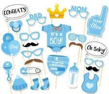 25pcs Baby Shower Photo Booth Props for Girl Boy Birthday Party + Diaper Glasses