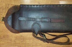 "Vintage leather gun rifle scabbard Jos.R. Custom Made, New York, USA 48""x7.5""x2"""