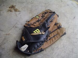 """Wilson Elite AD3600K 14"""" :Leather Softball Glove for Right-Handed Thrower"""