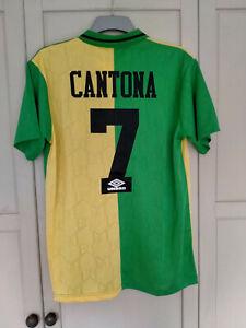 Man United 1992 1993 1994 Third Shirt Newton Heath size MEDIUM CANTONA 7 #