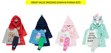 SALE Peppa Pig George Paw Patrol Unicorn Dressing Gown & Pyjama's 1-6 YRS