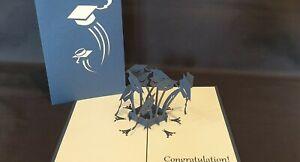 3D Pop Up Graduation Caps Greeting Card (Graduation, Congrats, )