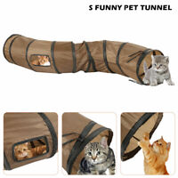 2 Hole S Type Pet Cat Tunnel Pop Up Tube Collapsible Kitten Rabbit Cats Play Toy