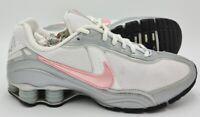 Nike Shox Saikano Leather Trainers White/Grey/Pink 315331-161 UK6.5/US9/EU40.5