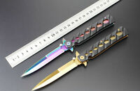 Outdoor Tactical Folding Blade Knife Pocket Camping Hunting Survival  Tool