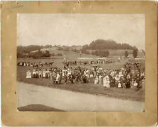 TALBOT FAMILY REUNION & ORIGINAL ca 1895 GROUP PHOTO (MOUNTED ALBUMEN PRINT)
