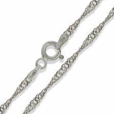 """STERLING SILVER 24"""" SINGAPORE TWISTED CURB ROPE CHAIN PENDANT NECKLACE GIFT BOX"""
