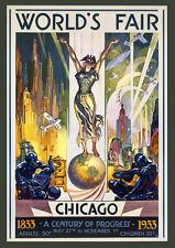 "20x30"" CANVAS Decor.Room design art print..1933 Chicago Fair.Deco studio.6078"