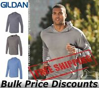 Gildan Mens Performance Hooded Long Sleeve Blank T-Shirt 46500 up to 3XL