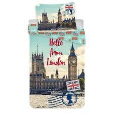 Hello de Londres Set Housse de Couette Simple 100% Cotton Européen Literie
