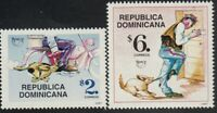 Upaep Rep.Dominican 1285/86 1997 Postman IN Motorcycle And Dog