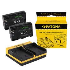 2x Batteria Patona Premium caricabatteria USB dual per Canon EOS 5D MARK III