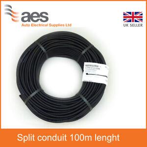 CTPA Flexible Black Conduit Size 18mm Split - 100m Lenght