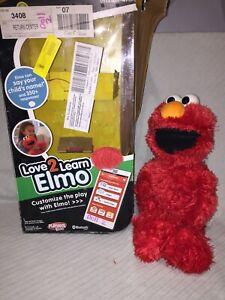 Love 2 Learn Elmo Interactive Talking Bluetooth Toy Sesame Street (DOLL 2)