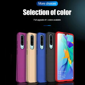 For Huawei P30 P20 Pro Y7 Y9 P Smart 360° Full Protect Case Cover+Tempered Glass