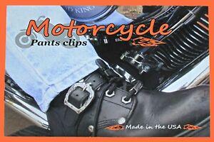 MOTORCYCLE PANT CLIPS / STRAPS  BOOT STRAPS  Original Design not a copy