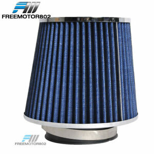 """Cold Short Ram Intake High Flow Cone Blue Air Filter 3.5"""" Inch Car Truck SUV"""