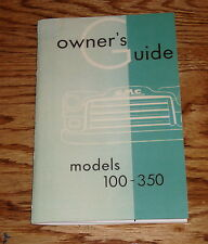 1954 GMC Truck Owners and Drivers Operators Manual Models 100-350 54