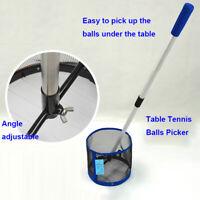 Telescopic PingPong Pick Up Net Table Tennis Training Ball Picker&12 Ball
