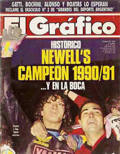 Soccer NEWELL'S OLD BOYS CHAMPION 1990/1 - El Grafico magazine Argentina