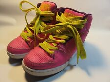 OSIRIS Pink High Tops With Polka Dots Girls Size 3 EUC