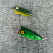 Vintage Heddon Tiny Torpedo Fishing Lure 2 Inch Frog Plus Other Unmarked
